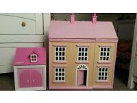 Ladybird Victorian Wooden Dolls House and Garage