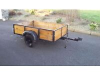 6x4 Car trailer recently restored in excellent condition