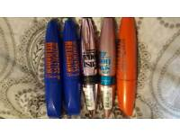 5 x new Rimmel and Maybelline mascara's