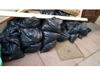 Bags of garden soil
