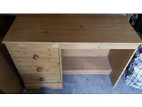 Wardrobre and matching desk unit in reasonable condition.