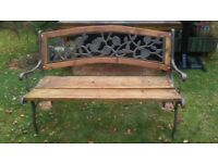 Iron Sided Wood Garden Bench