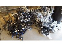 Joblot of VGA DVI and Kettle Leads 30KG Collection only