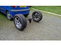 Mk2 Escort Trike Axle With Wheels