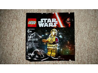 Lego Star Wars C-3PO red arm mini figure - new in polybag