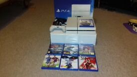 PS4 WHITE 500 +7 GAMES IN MINT CONDITION WORKS ONLINE