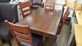 Extending table and 4chairs