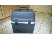Travel Cool Box (Halfords) ,with car power supply. Keeps food cold or hot when travelling