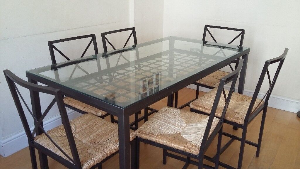 Ikea Granas Gl Top Dining Table For 6 With Chairs 40