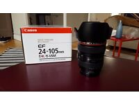 Canon 24-105 f.4 L + 6 month Warranty