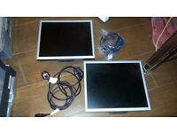 "2 x NEC MultiSync LCD1770NX - 17"" LCD (NO STANDS)"