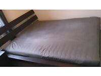 IKEA HOPEN BED FRAME (KING SIZE) + SLATTED BED BASE + MEMORY FOAM MATTRESS