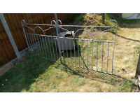 twin galvanised drive gates