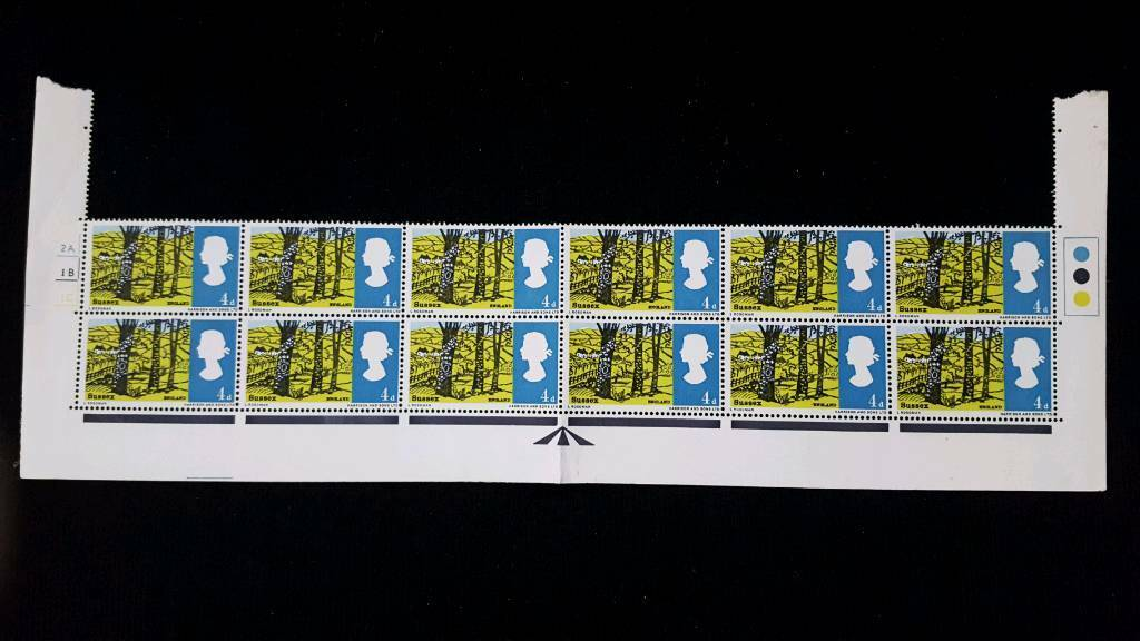 BLOCK OF 12 THE CAIRNGORMS 1/6 STAMPS WITH TRAFFIC LIGHTS