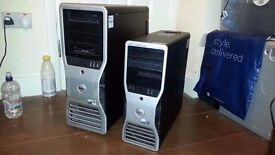 TWO DELL 8 CORE WORKSTATIONS (SPARES / REPARES)