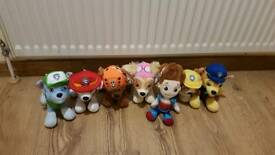 Paw patrol pup plush toy set plus Ryder 8""