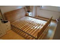 Ikea wicker King size wicker bed frame