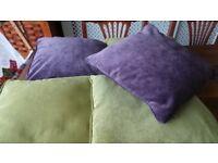 5 x Beautiful Next Velvet Piped Cushions 40cm x 40cm - Excellent Condition