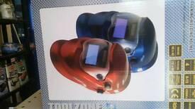 Auto darkening welding helmet blue helmet