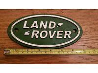 Replica Land Rover Sign