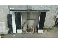 Antique Slate Fire Surround. Fireplace. Mantlepiece.