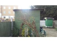 9 x 8 x 8 FT High Garden Shed Workshop Storage Container Year Old VGC Dismantle