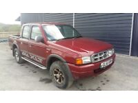 breaking red ford ranger double cab 4x4 parts spares