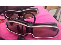 Pair of VGC 3D HD glasses for Panasonic TV models. Included batteries, boxes, spare nose adjustments