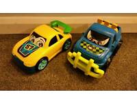 Large toy cars