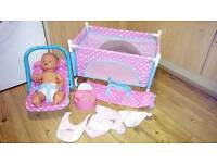 Interactive doll bundle cries giggles wets