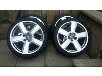 """4 very good tyres with alloys 18"""" audi a4"""
