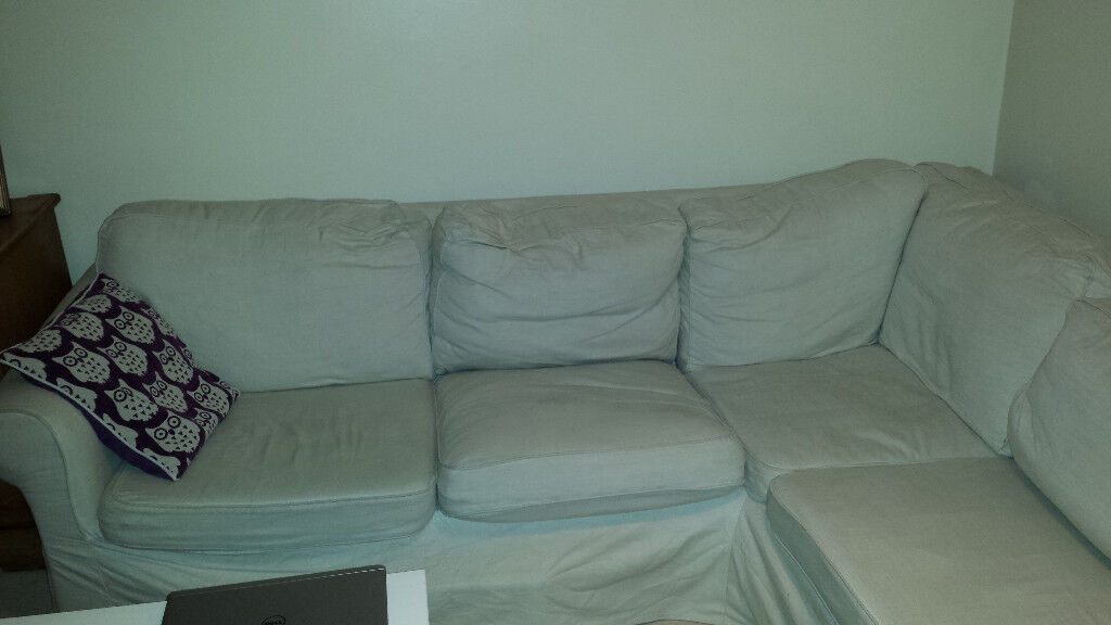 White IKEA Ektorp Corner Sofa 5 seats, good condition