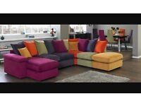 Multi coloured large sofa bed