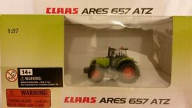 New Claas Ares 657 ATZ 1:87 scale model tractor collectible - not a toy (for age 14 years and over)