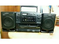 Sony CD cassette radio recorder with remote very lo