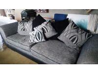 4 seater & 1 seater grey sofa