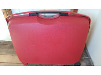 Red suitcase Hard shell