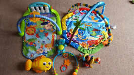 Baby Einstein Rhythm Of The Reef Gym + Fisher-Price Kick & Play Piano + O Ball Flex Activity Toy