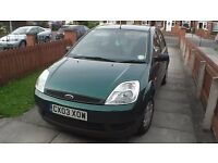 Fiesta 1.4L HDi 2003. MOT JUNE 2018, £30 Road Tax, Exceptional condition. Any Trial