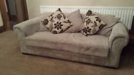2 and 3 seater sofa with footstool