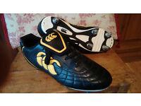 Canterbury jjb smu black leather rugby boots size uk 7 , eur 41
