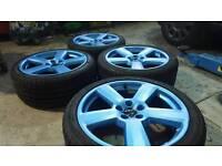"Audi/Volkswagen/seat/skoda alloys wheel 18""matt blue pearlescent"