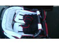 twin double pram pushchair stroller