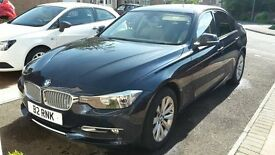 BMW 3 SERIES 2.0L 318D 2012 MODERN MANUAL 48750M BLUE OYSTER LEATHER EXCELLENT CONDITION