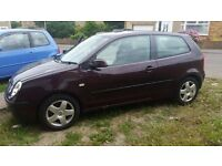 VOLKSWAGEN POLO 1.4 16V 2002. **NEW CLUTCH KIT** *A/C* £1000ONO