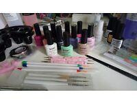 Gel nails/nail art kit set with uv lamp