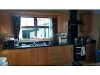 Oak kitchen, worktop and applicances