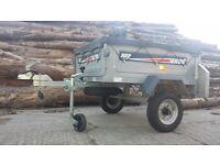 Erde 102 galvanised tipping trailer