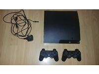 PS3 console, 2 controllers, 6 games