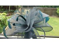 Mother of Bride teal dress size 20 and matching fascinator in teal